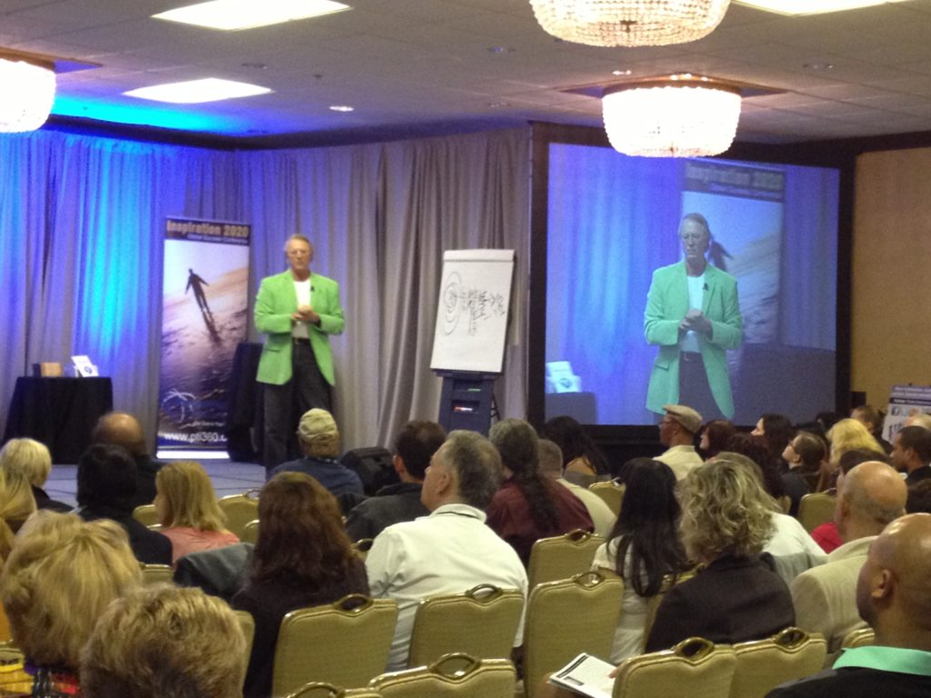 Mike Muhney on stage in Los Angeles